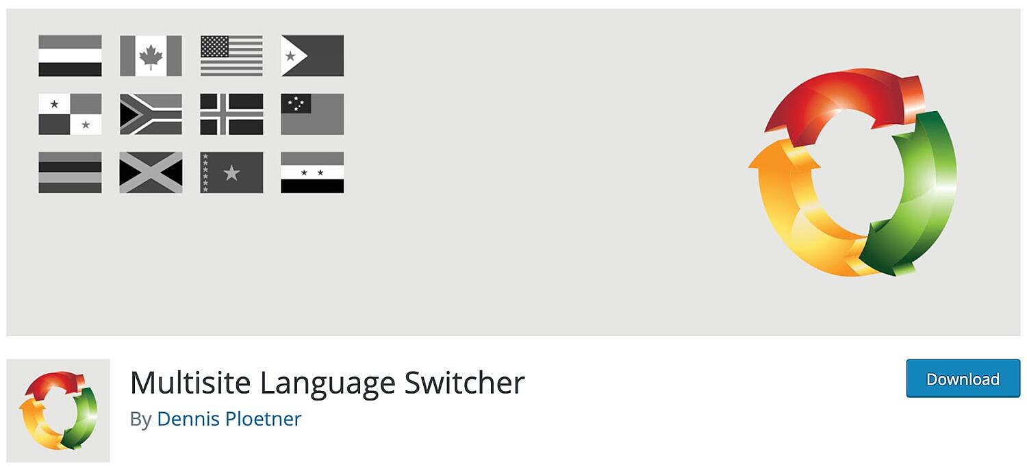 product page for the wordpress multisite plugin Multisite Language Switcher
