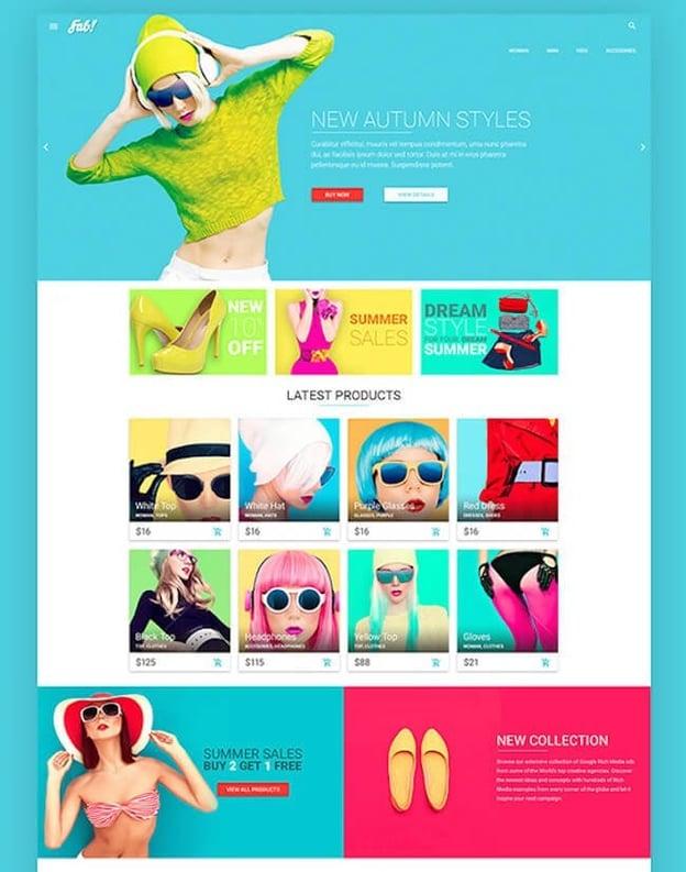 best material design wordpress theme: fab!