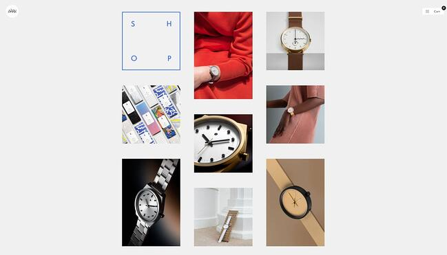 homepage for the small business website design example aark collective