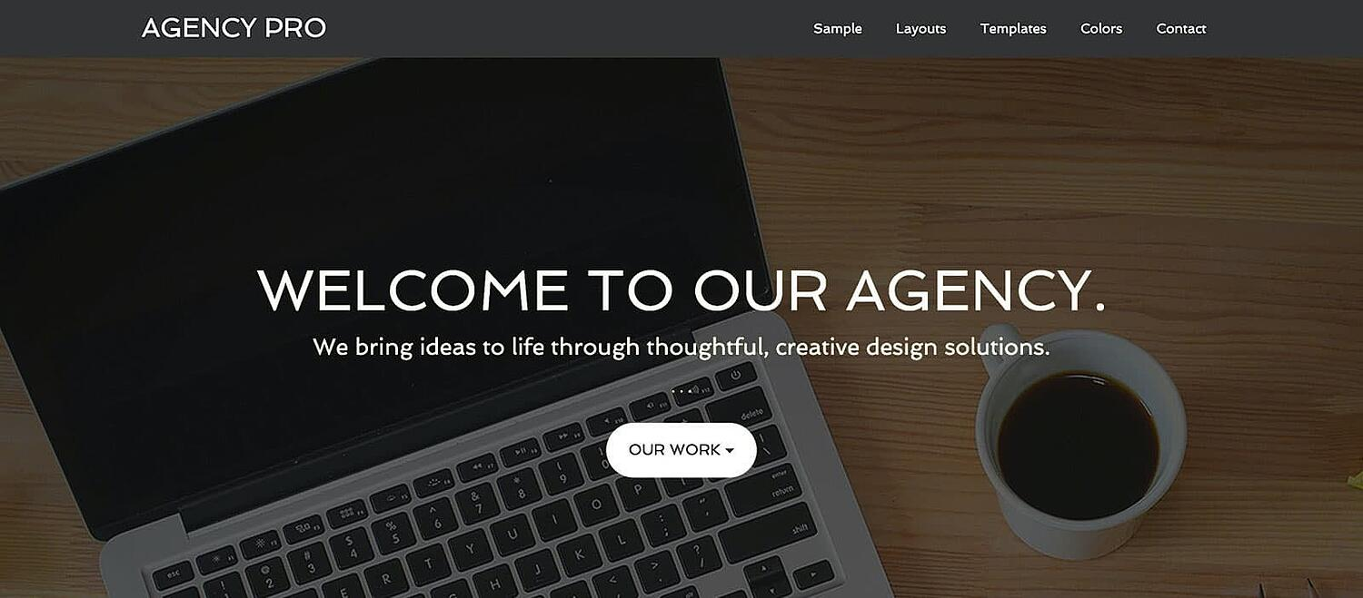 product page for the corporate WordPress theme Agency Pro