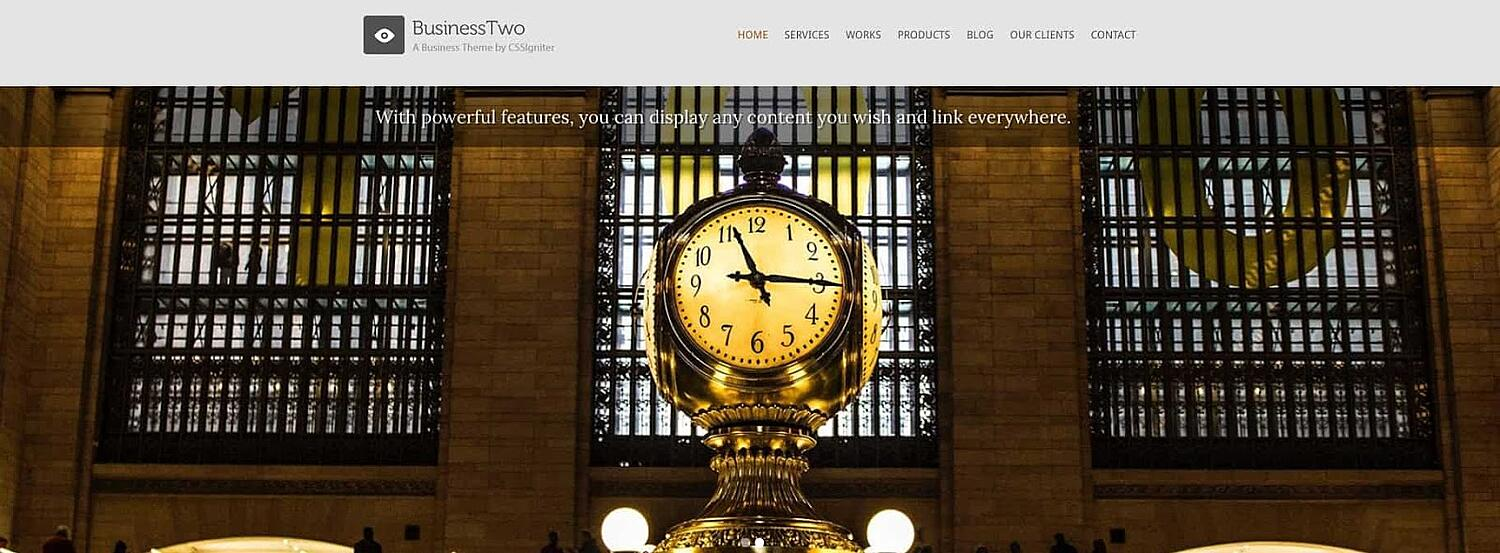product page for the corporate WordPress theme BusinessTwo