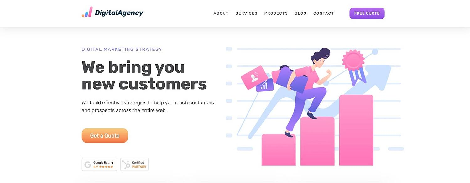 product page for the corporate WordPress theme SEOWP