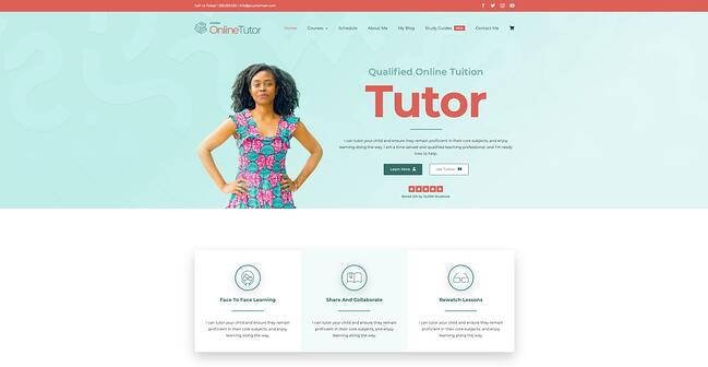 demo page for the wordpress theme for online courses avada
