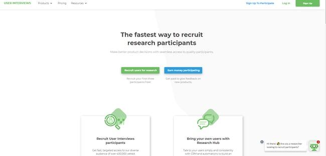 UX tool: User Interviews