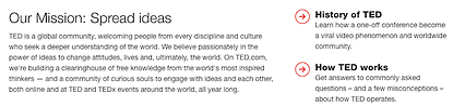 TED vision and mission statement: Spread ideas