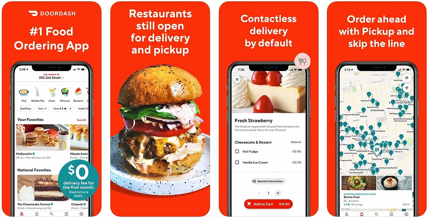 screen shot for the mobile inspiration app DoorDash