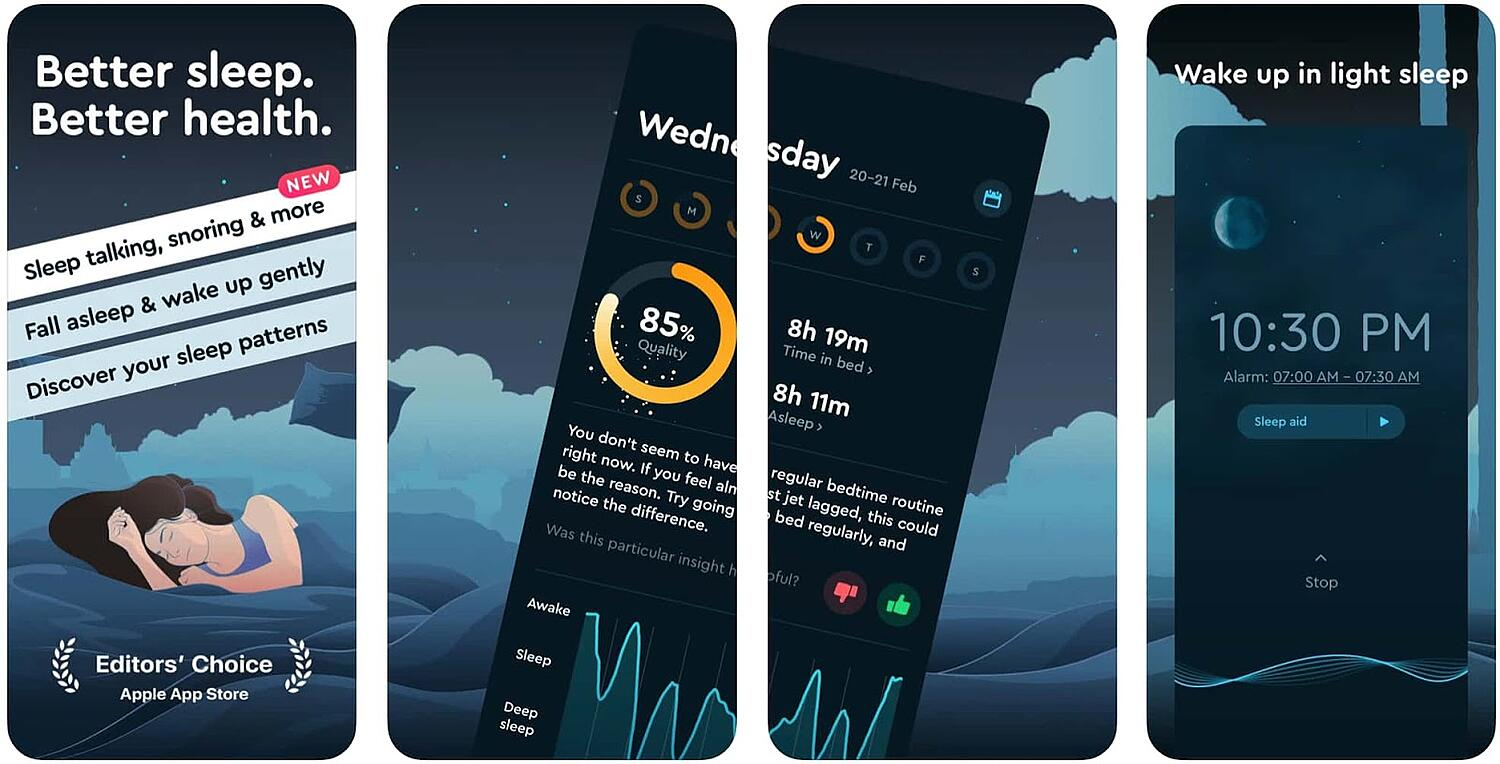 screen shot for the mobile inspiration app Sleep Cycle