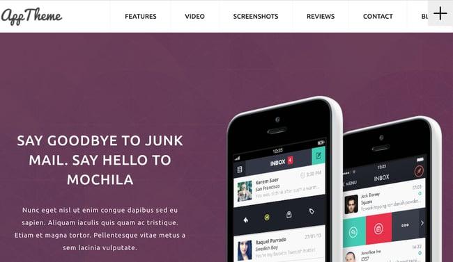 App Theme Landing Page WordPress Theme