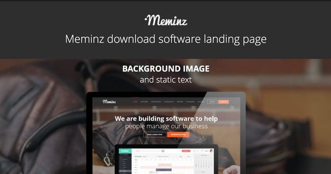 Meminz Landing Page WordPress Theme