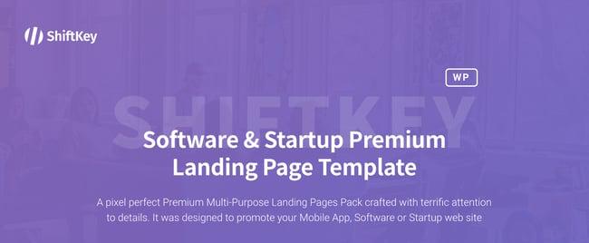 shiftkey Landing Page WordPress Theme