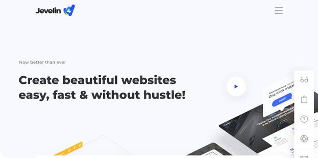 Jevelin Landing Page WordPress Theme