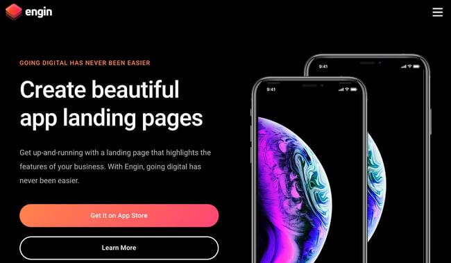 Engin Landing Page WordPress Theme