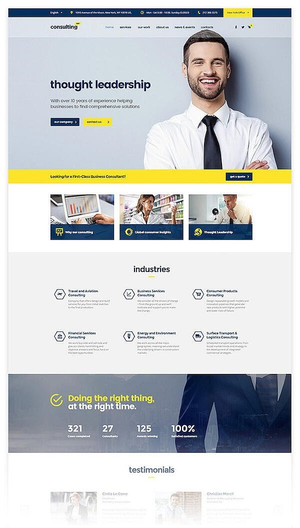 Consulting is one of the best consulting WordPress themes