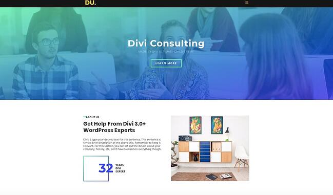 Divi Consulting theme for WordPress