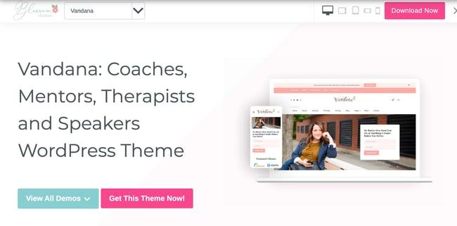 Consulting WordPress Theme Vandana