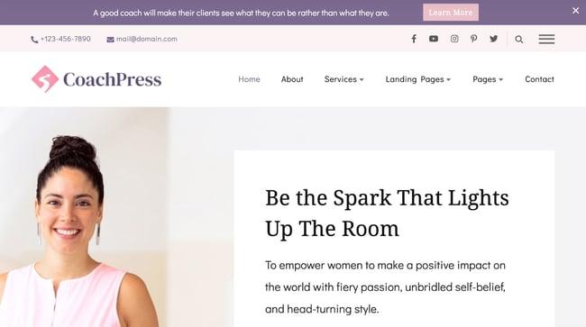 Consulting WordPress Theme CoachPress