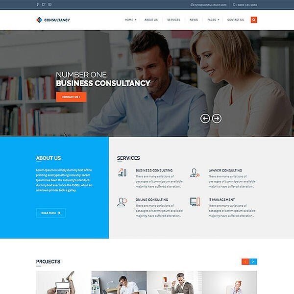 Consultancy is one of the best consulting WordPress themes