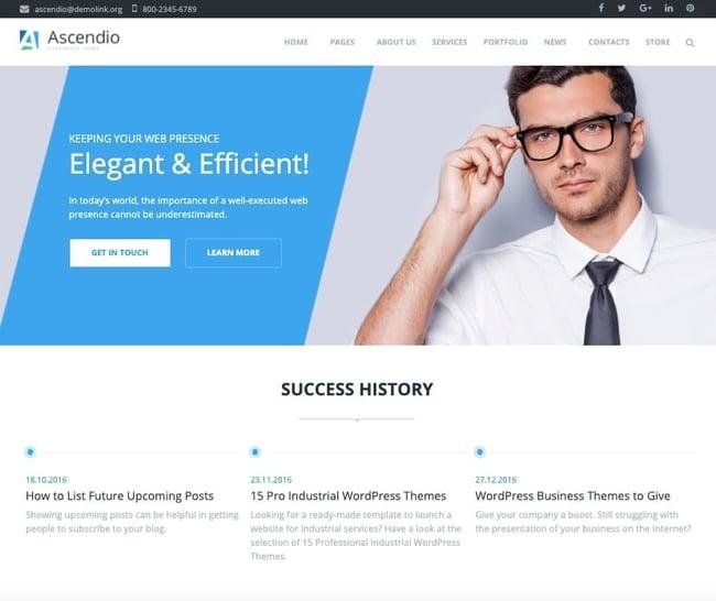 Consulting WordPress Theme Ascendio
