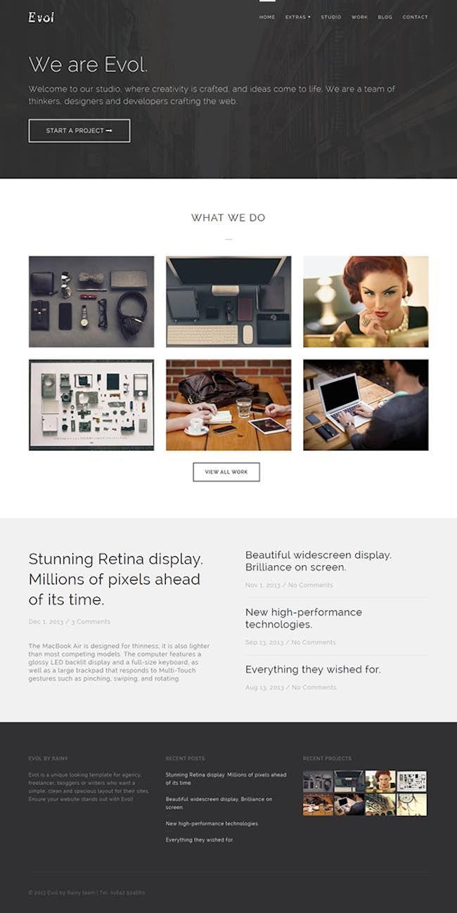 Evol Freelance Portfolio Theme