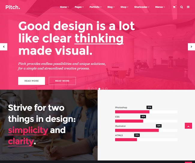 pitch wordpress theme for creatives