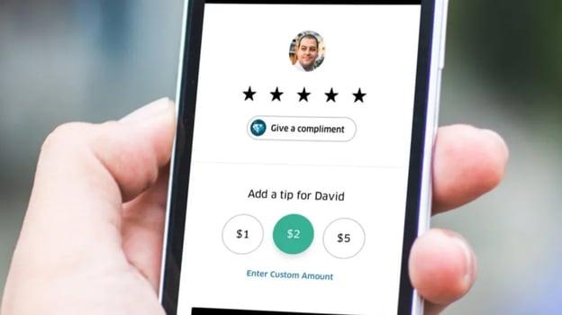 customer satisfaction survey example: uber