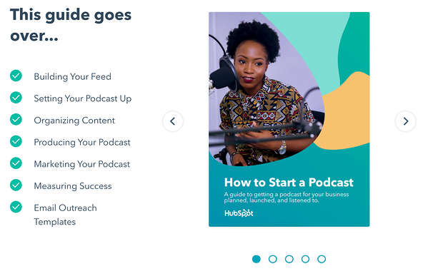 hubspot free guide to creating podcasts