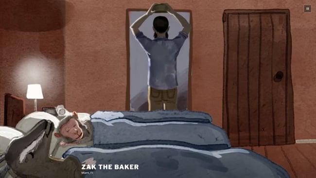 homepage for the bakery website Zak The Baker