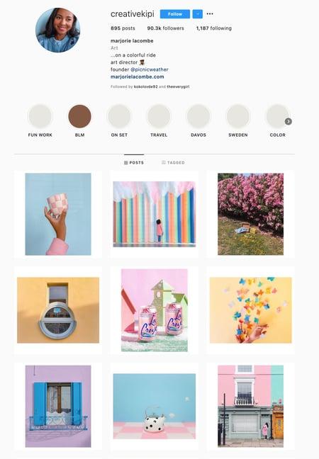 Pastels Instagram Theme Example