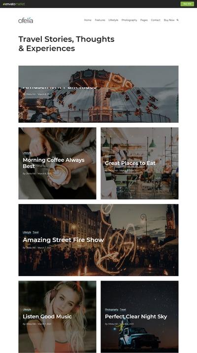 Best WordPress Instagram Themes Ofelia
