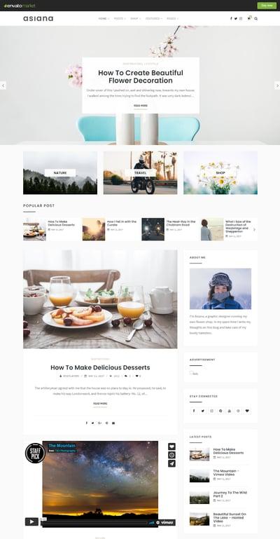 Best WordPress Instagram Theme Asiana