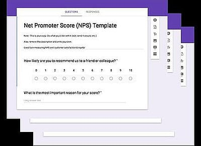 net promoter score questionnaire templates