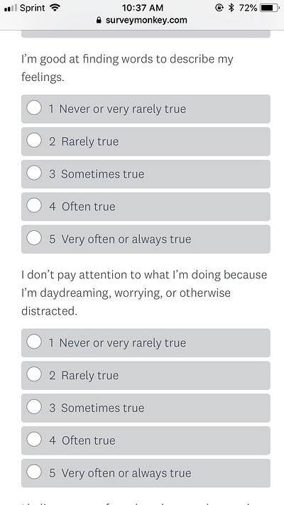 demographic psychographic questionnaire example