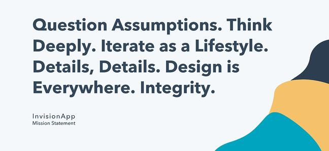 mission statement example: invisionapp