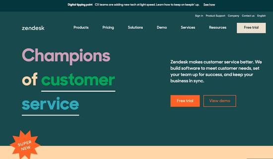 Zendesk customer service platform