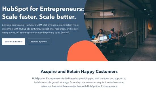 HubSpot for Entrepreneurs