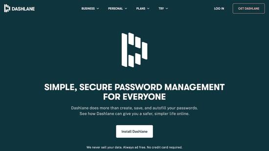 Dashlane password management