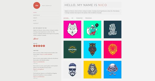 demo page for the best wordpress theme for seo nico