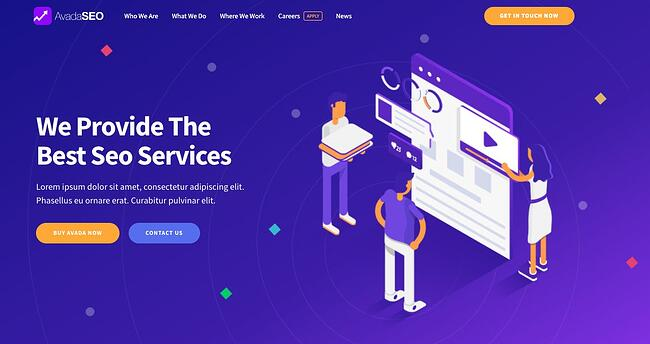 demo page for the best wordpress theme for seo avada