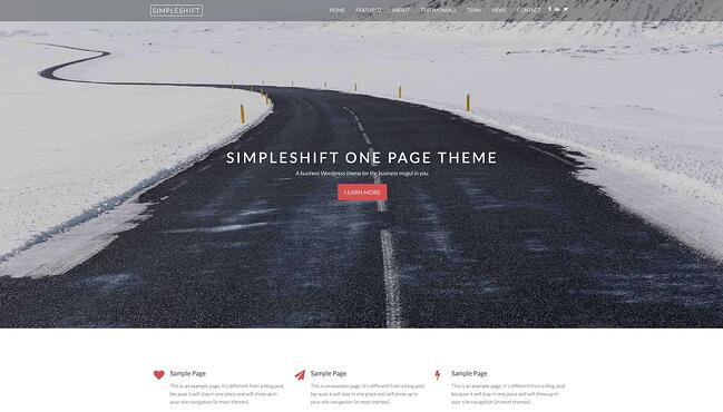 demo page for the best wordpress theme for seo simpleshift