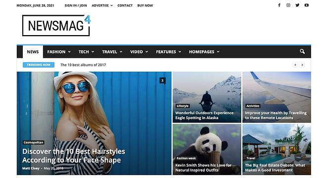 demo page for the best wordpress theme for seo newsmag