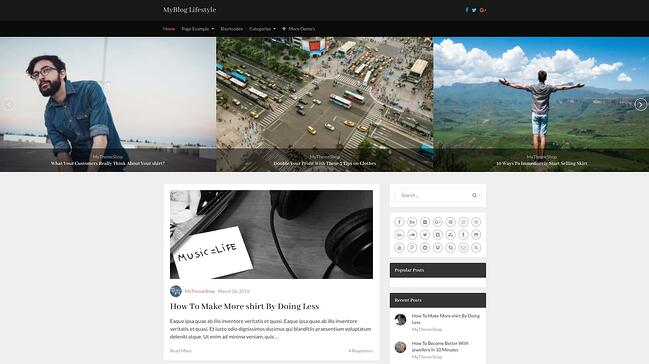 demo page for the best wordpress theme for seo myblog