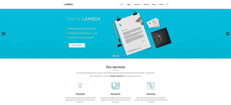 demo for the multipurpose wordpress theme lambda
