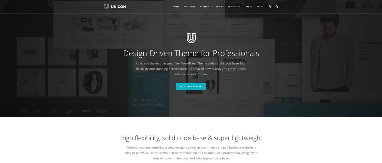 demo for the multipurpose wordpress theme unicon