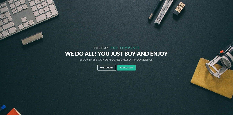 demo for the multipurpose wordpress theme TheFox