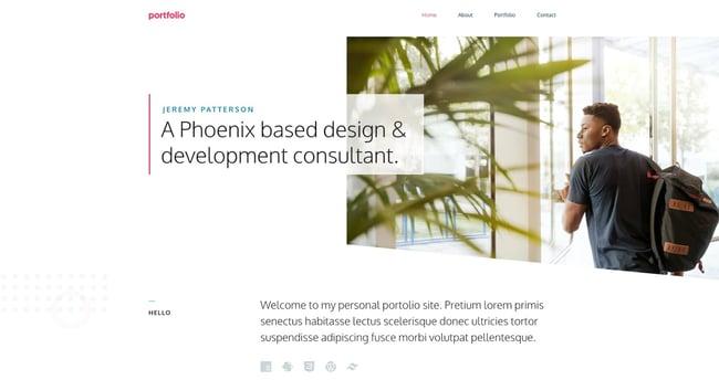 most popular wordpress theme demo example: generatepress