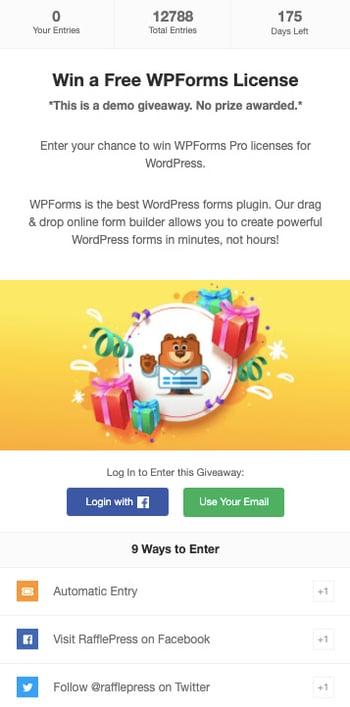 Best WordPress Plugins: Rafflepress