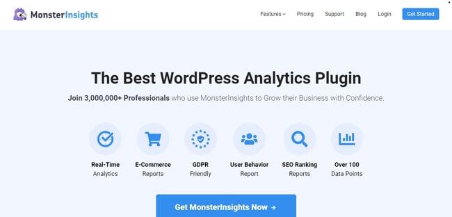 Best WordPress Plugins: MonsterInsights