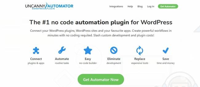 Best WordPress Plugins: uncanny automater