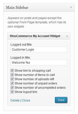 Best WordPress Plugins: Woocommerce my account widget