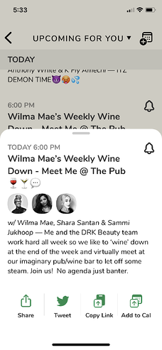 Weekly Wine Down description with hosts from DRK Beauty